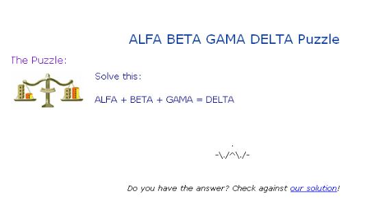 Math is fun in the trenches for Alfa beta gama